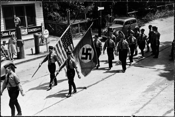 Nazi march flag