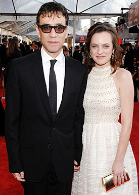 Actors Fred Armisen and Elisabeth Moss arrive to the TNT/TBS bro