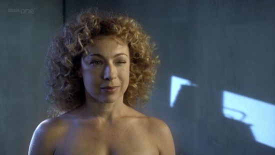 The apparently nude picture of River Song was seen in some trailers for the ...