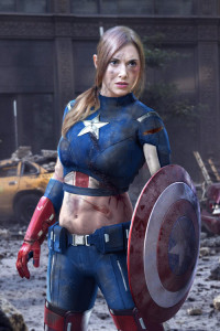 Allison Brie as Captain America
