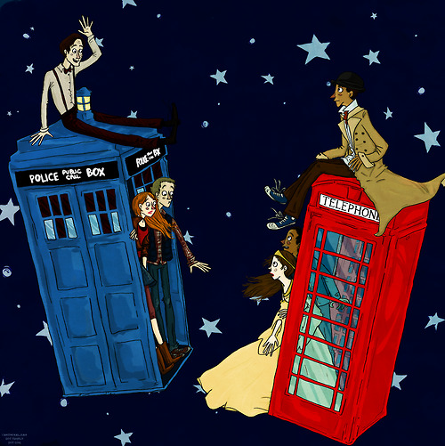 Doctor Who Meets Inspector Spacetime