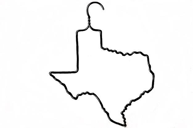 Texas shirt hanger