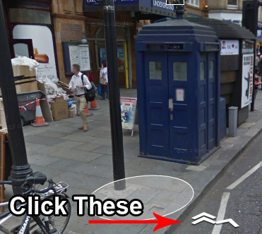 TARDIS in on Google Maps