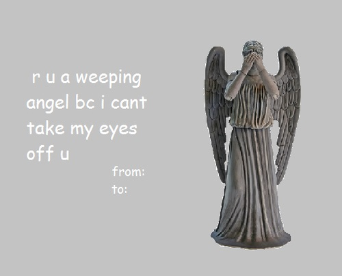 Doctor Who Valentines 3 Weeping Angels