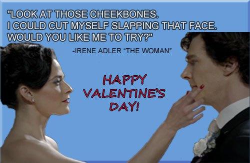 Irene Adler sherlock-valentine