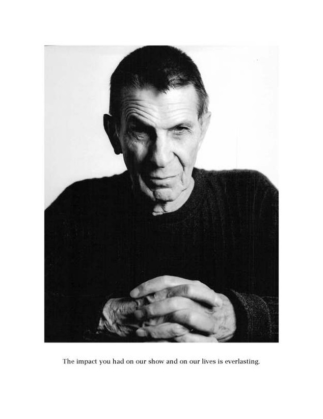 Big Bang Theory Nimoy Tribute