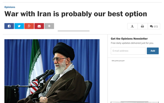 Washington Post War with Iran