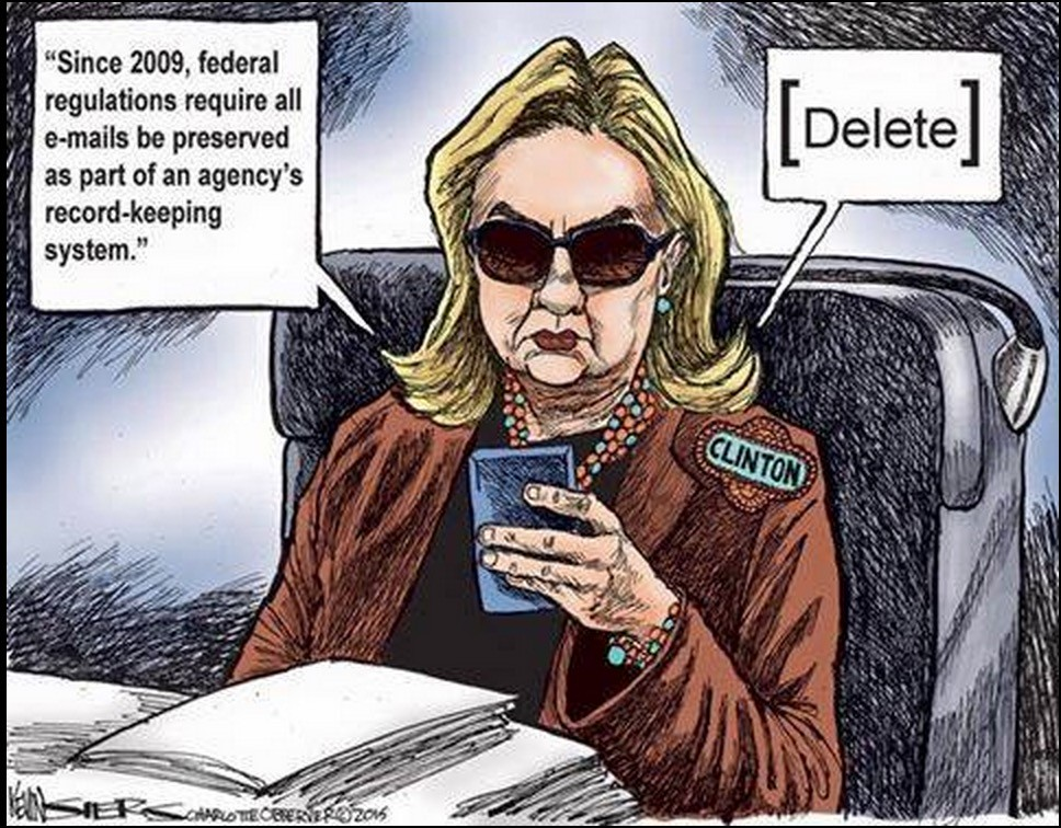 Clinton Email Cartoon Deleted