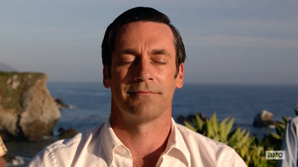 Mad Men Don Meditating