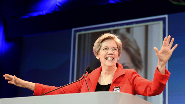 May 16, 2015 - Anaheim, CA, USA - Senator Elizabeth Warren gave a speech during the general session of the California Democratic Party's annual convention at the Anaheim Convention Center on Saturday...///ADDITIONAL INFORMATION: demsconvention.0517 – 5/16/15 – BILL ALKOFER, - ORANGE COUNTY REGISTER - ..Senator Elizabeth Warren gave a speech during the general session of the California Democratic Party's annual convention at the Anaheim Convention Center on Saturday..During the speech a group of more than 200 gathered outside the convention center and protested proposed legislation that would require mandatory vaccinations. (Credit Image: © Bill Alkofer/The Orange County Register/ZUMA Wire)