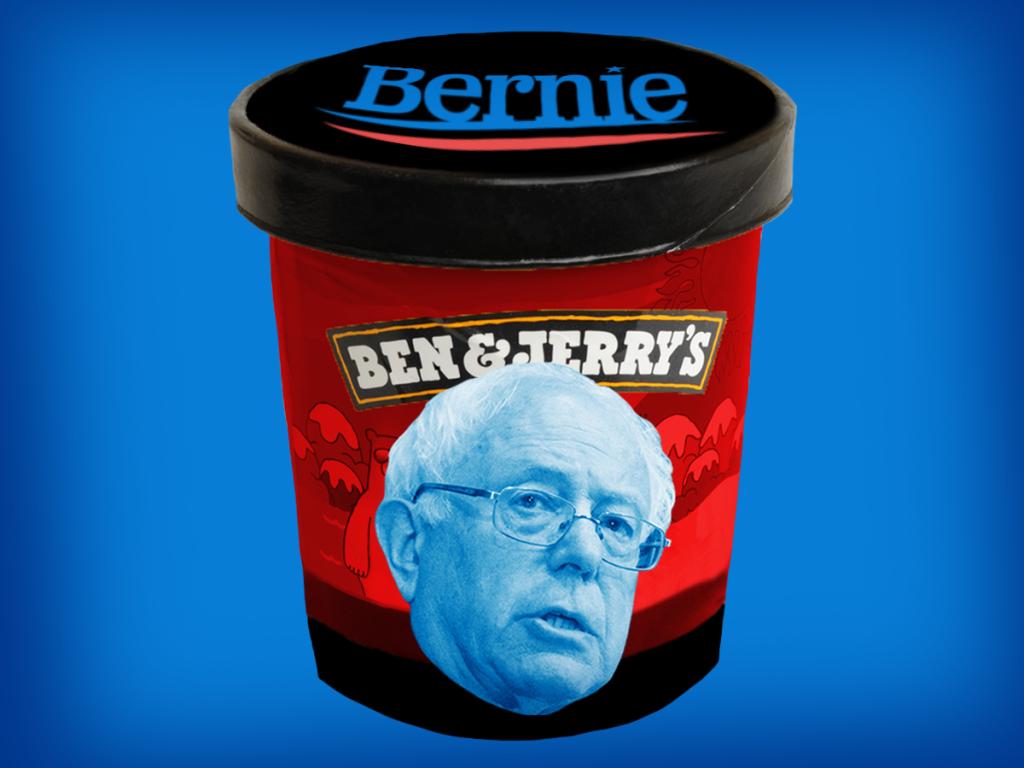 Bernie Sanders Ben & Jerrys Ice Cream