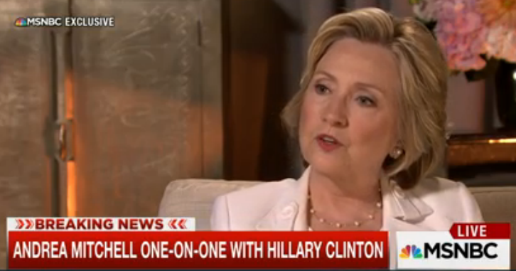 Hillary Clinton Interview Andrea Mitchell