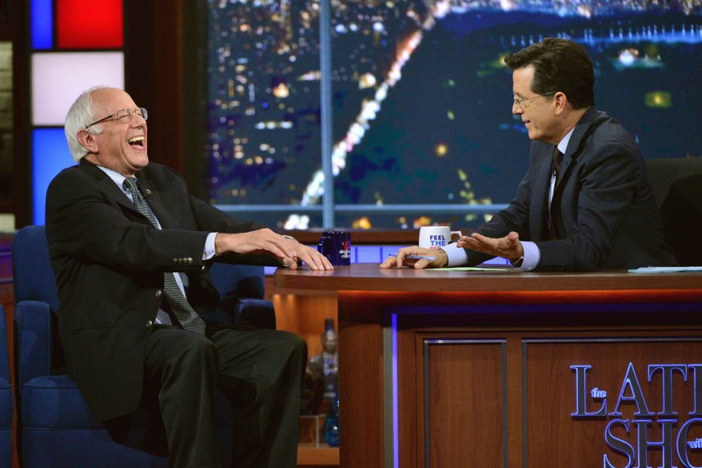 Sanders on Late Night