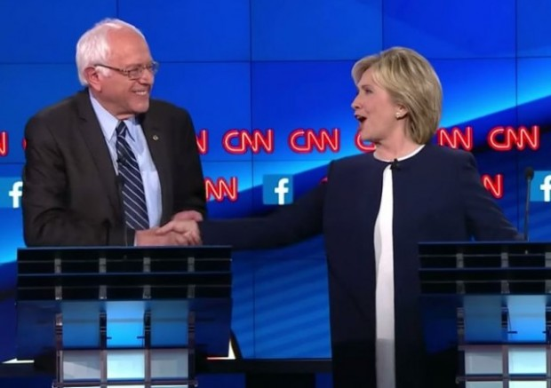 CNN Debate Sanders Clinton