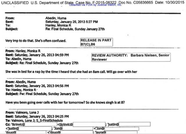 Clinton Confused Huma Email