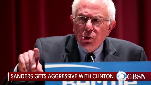 Sanders Aggressive vs. Clinton