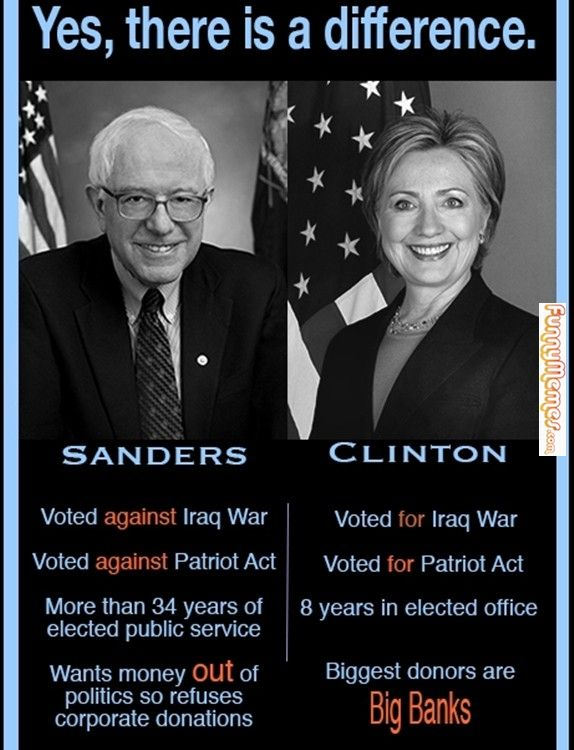 Sanders Clinton There Is A Difference