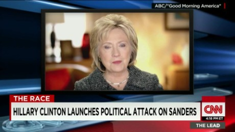 Clinton Attacks Sanders