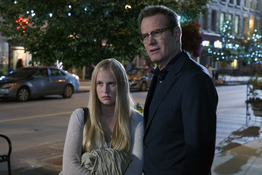 "HEROES REBORN -- ""11:53 To Odessa"" Episode 110 -- Pictured: (l-r) Danika Yarosh as Malina, Jack Coleman as Noah Bennet -- (Photo by: Steve Wilkie/NBC)"