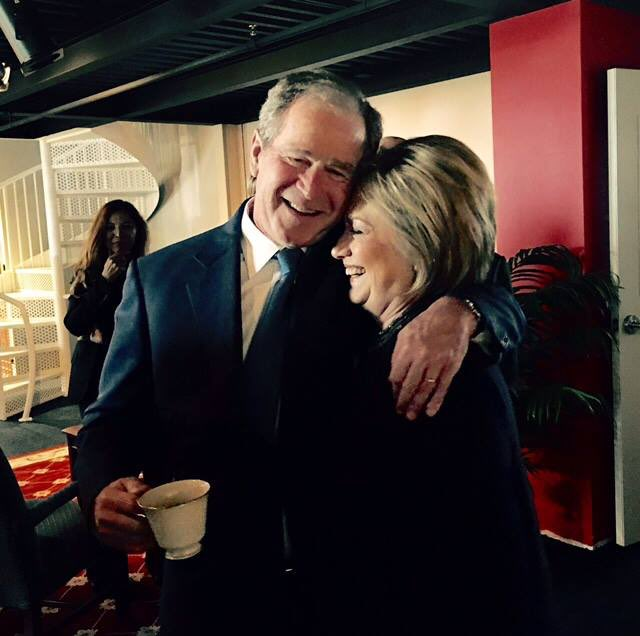 Bush and Hillary Clinton