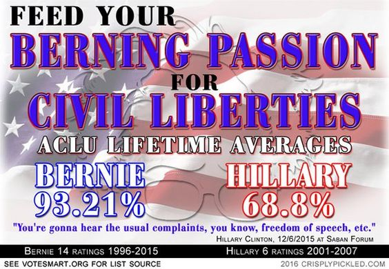 Sanders Passion Civil Liberties