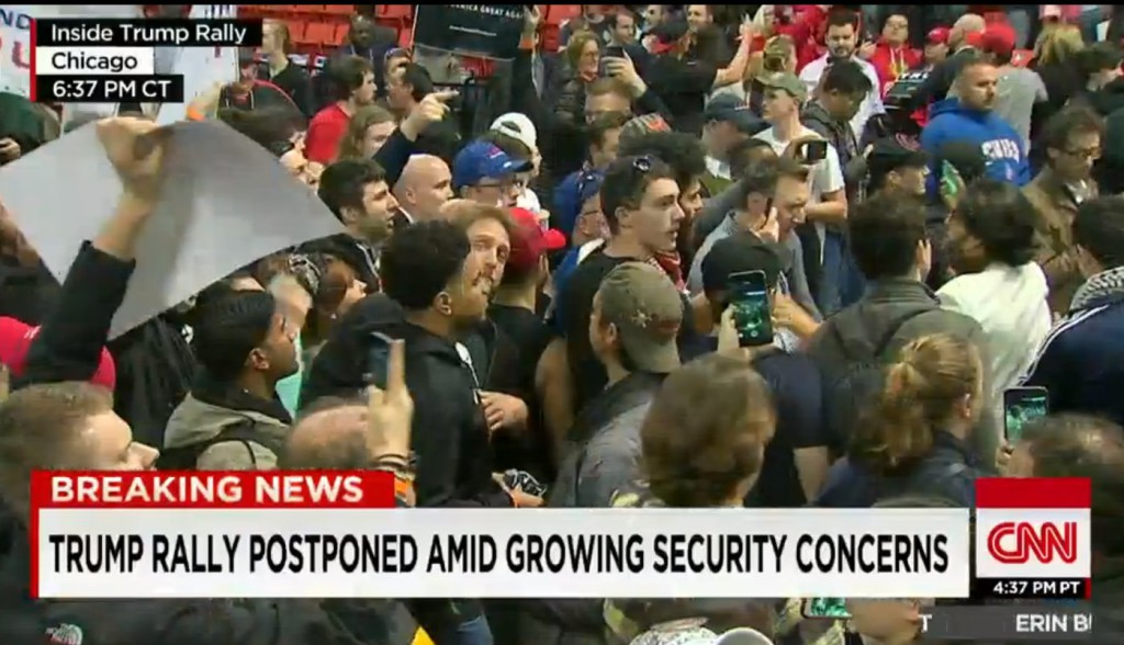 Trump Rally Postponed CNN Screenshot