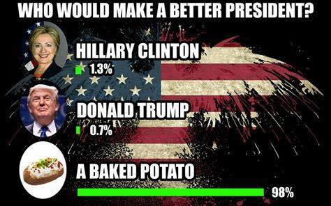 Clinton Trump Baked Potato