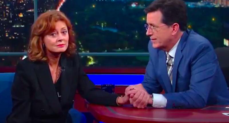 Susan Sarandon Stephen Colbert