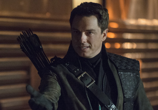 "Arrow -- ""Streets of Fire"" -- Image AR222b_0237b -- Pictured: John Barrowman as Malcolm Merlyn/Dark Archer -- Photo: Cate Cameron/The CW -- © 2014 The CW Network, LLC. All Rights Reserved."