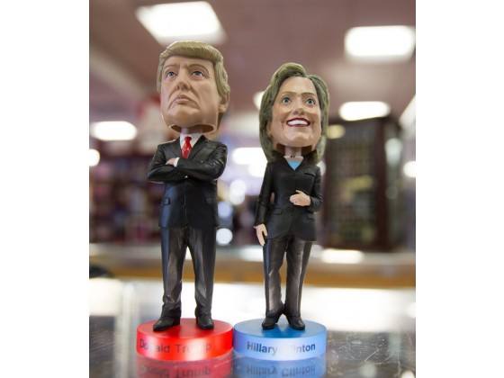 Trump Clinton Bobble Head