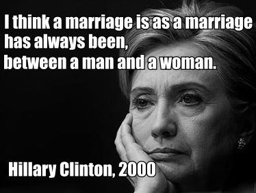 hillary gay marriage