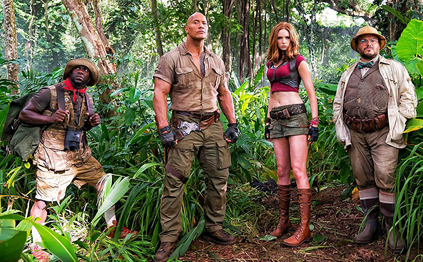 The Rock Instagram EXCLUSIVE FIRST LOOK: #JUMANJI Our dope 90's vintage costumes