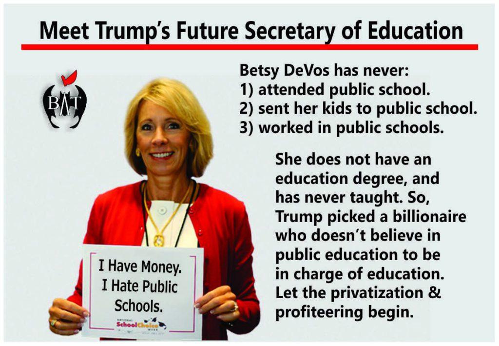 Betsy DeVos Joins Donald Trump's Bizarro World Cabinet Liberal Values